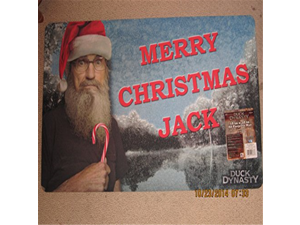 "NEW Duck Dynasty Merry Christmas Jack Floor Mat Rug - 18"" x 30"""