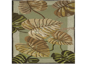Homefires Philodendron Indoor Hand Hooked Area Rug, 26 by 60-Inch