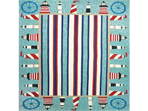 "Indoor/Outdoor Patio Rug By Homefires Lighthouse Brigade 26""X 60"""
