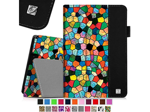 "Fintie Folio Case for Kindle Fire HD 7"" (2013 Old Model) - Slim Fit Folio Case with Auto Sleep / Wake Feature (will only fit Amazon Kindle Fire HD 7, Previous Generation - 3rd), Stained Glass Mosaic"