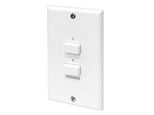 Pyle In-Wall Speaker Selector Switch, Wall Plate Speaker Control