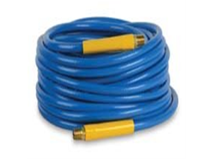 "Workforce® 1/4"" x 50 Blue PVC Air Hose, 1/4"" Ends"