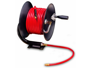 "Legacy Manufacturing L8650 Workforce Series Manual Air Hose Reel with 3/8"" ID x 50 Hose"