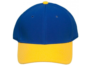 NEW! Blank Pro-Flex Stretch-Fit Cap - Blue/Yellow - Self Embroidery/Screening