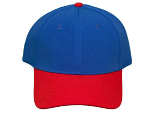 NEW! Blank Pro-Flex Stretch-Fit Cap - Blue/Red - Self Embroidery/Screening