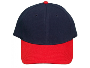 NEW! Large / Xlarge Blank Pro-Flex Stretch-Fit Cap - Navy/Red - Self Embroidery/Screening