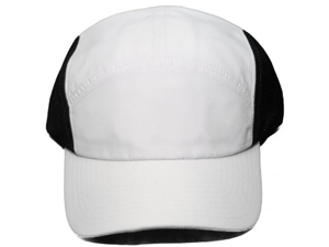 NEW! Blank Q-3 Technology Clip Back Cap - Adjustable One Size Hat - White/Black