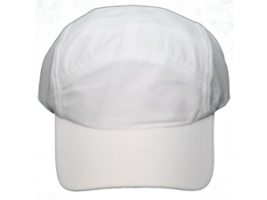 NEW! Blank Q-3 Technology Clip Back Cap - Adjustable One Size Hat - White
