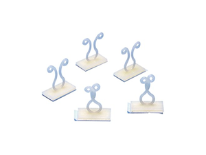 Cable Clip Twist Fastener Adhesive 5 Pack Audio Video Coax Data Signal Speaker Wire Straps Holder Clip, Ivory