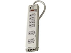 Surge Protector, 6 Outlets, 1045 Joules, 6 Cord, Putty