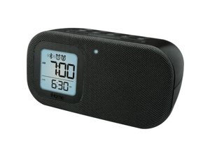 iHome Dual Alarm Clock with BLUETOOTH Stereo Speaker & USB Charging and Line-In, Black