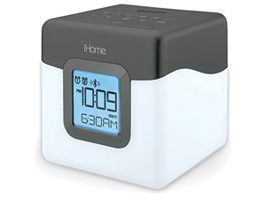 iHome Bluetooth Compact Dual Alarm Clock Radio with Large Easy to Read Backlit Display