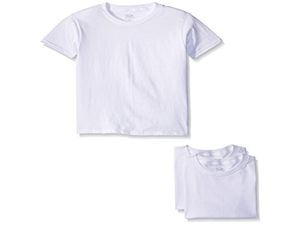 Fruit of the Loom Big Boys White Crew Tee , White, Small (Pack of 3)