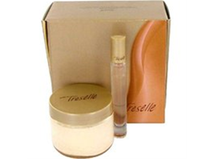 Treselle by Avon Gift Set -- 4.2 oz Body Souffle .2 oz Touch on Perfume Rollette Women