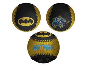 Batman in Cape Batman Logos All Over DC Comics Black & Yellow Baseball
