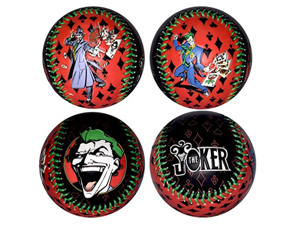 The Joker Batman and Robin Throwing Playing Cards DC Comics Black & Red Baseball