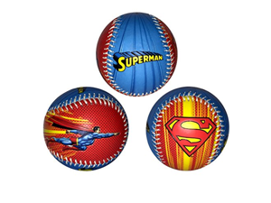 Superman Logo Here I Come To Save The Day DC Comics Blue & Red Baseball