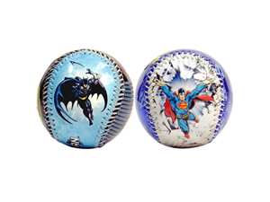 Superman Break In Action & Batman In Action DC Comics Set of 2 Baseballs