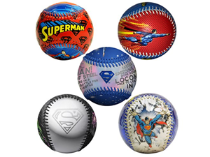 Superman Many Forms of Superman DC Comics Set of 5 Baseballs - 1 Limited Edition