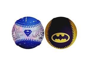 Superman Logo Speed of Light & Batman In Cape DC Comics Set of 2 Baseballs