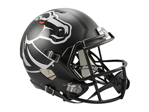 Boise State Broncos Black Officially Licensed NCAA Speed Full Size Replica Football Helmet