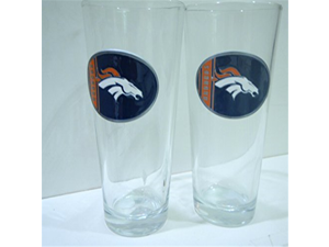 Denver Broncos 2 Piece Pint Ale Glass Set