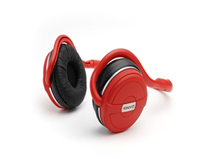 Kinivo BTH240 Bluetooth Stereo Headphone - Supports Wireless Music Streaming and Hands-Free calling (Hot Red)