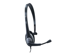 Cyber Acoustics Mono Headset and Boom Mic with PC Y-Adapter (AC-104)