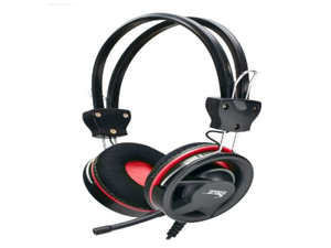 Syba CL-AUD63019 Red Stereo Gaming Headset with Removable Mic - Red