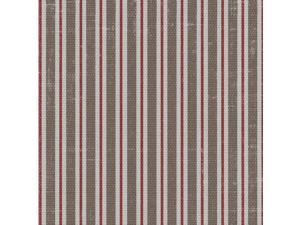 "The Gentlemans Club 43"" Wide 100% Cotton 5yd D/R-Red Stripe"