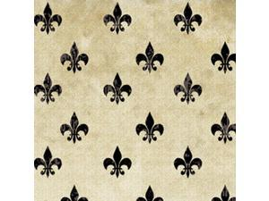 "Classic Collection 43"" Wide 100% Cotton 5yd D/R-Fleur - Black"