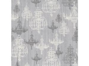 "Shabby Chic 43"" Wide 100% Cotton 5yd D/R-Silver Chandelier"