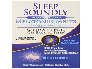 Windmill Health Products Sleep Soundly Melts Tablets, 5 mg, 60 Count