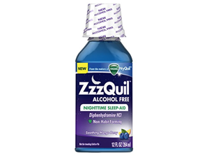 ZzzQuil Nighttime Sleep Aid Alcohol Free Soothing Mango Berry Flavor Liquid, 12 Ounce