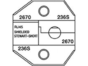 Paladin Tools 2670 Shielded RJ45 Shielded Stewart Connector, Short Body Die for CrimpALL 8000/1300 Series