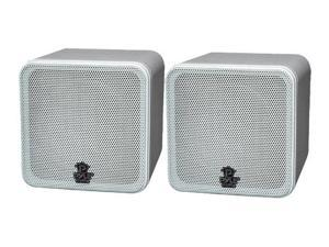 "New Pyle PCB4WT 400 Watt Pair 4""Mini Bookshelf Speakers"