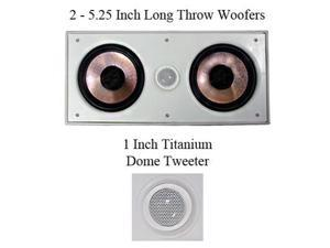"Pyle Pro PDIWCS56 5.25"" 300 Watt In-Wall Center Speaker"