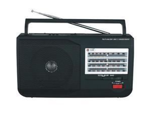 Portable Mini AM FM SW1/SW2 TV Radio with Built-In USB & SD Inputs & Speaker