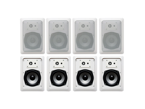 Acoustic Audio CS-IW520 In Wall Speaker 4 Pair Pack 2 Way Home Theater 1600 Watt New CS-IW520-4Pr