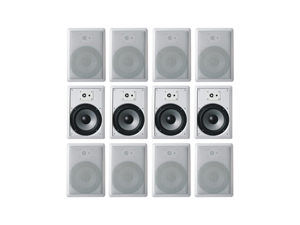 """12 Acoustic Audio CSIW820 300W 8"""" 2-Way Home Theater In-Wall/Ceiling Speakers"""