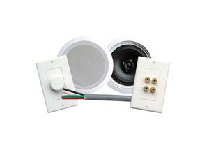 "PYLE PHSKIT6 6.5"" 200 Watt 2-Way In-Wall/Ceiling Home Theater Speaker System"