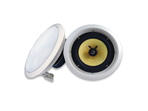 Acoustic Audio HD8 700 Watt Pair Round In-Wall In-Ceiling Home Theater Speakers