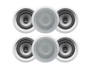 "6 Acoustic Audio CS-IC62 250W 6.5"" 2-Way Home Theater In-Wall/Ceiling Speakers"