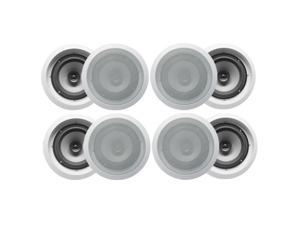 "8 Acoustic Audio CS-IC82 300W 8"" 2-Way Home Theater In-Wall/Ceiling Speakers"