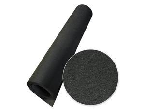 Rubber-Cal Elephant Bark Recycled Rubber Flooring Rolls - 5 mm Thick - Black - OEM