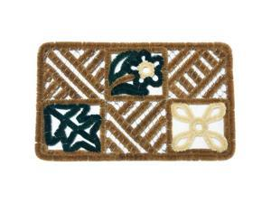 "Spring Leafs Decorative Scraper Mat - 18"" x 30"" Outdoor Coco Door Mat - OEM"