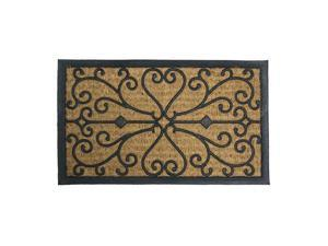 "Harmony Outdoor Coco Door Mat - 18"" x 30"" Decorative Rubber Doormat - OEM"