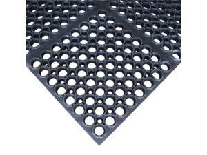 Rubber-Cal Dura-Chef Sr. Rubber Anti-Fatigue Kitchen Mat - 7/8 inch Thick x 38.5 inch x 58.5 inch - OEM