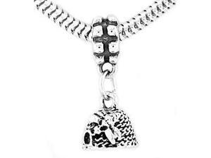 Sterling Silver Beehive Dangle Bead Charm