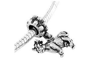 Sterling Silver Cow Dangle Bead Charm